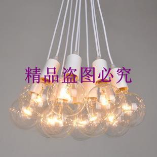 創意時尚復古懷舊展客廳餐廳臥室書房燈具 米蘭愛迪生燈泡吊燈飾