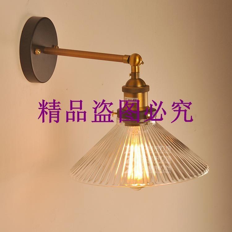 批發美式工業風復古創意個性壁燈臥室書房餐廳咖啡廳玻璃壁燈