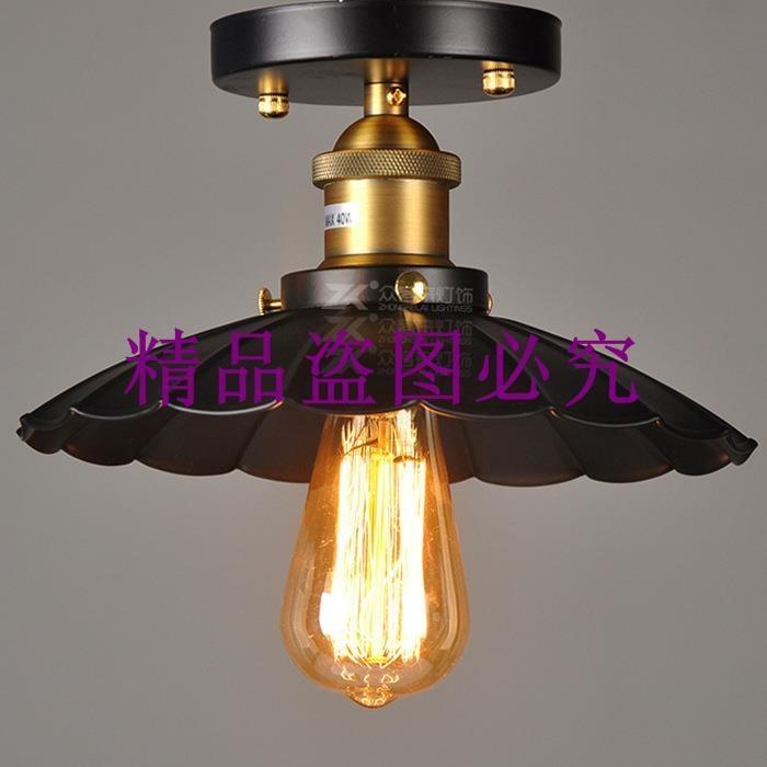 簡約美式鄉村吸頂燈LED歐式走廊過道玄關陽臺試衣間門廳鐵藝燈具