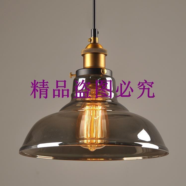 廠家批發手電筒玻璃吊燈 單頭煙灰色玻璃吊燈