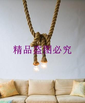 麻繩吊燈 服裝店酒吧裝飾吊燈 個性DIY咖啡館復古懷舊