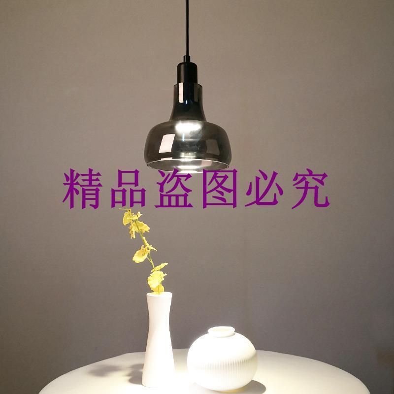 中山燈飾廠家直銷批發玻璃陰影吊燈吧臺餐客廳單頭小吊燈LED燈具