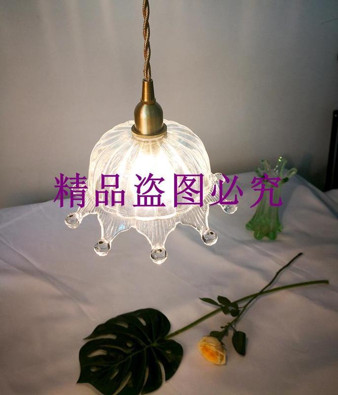 北歐極簡個性餐廳吧臺陽臺酒吧咖啡廳單頭吊燈黃銅玻璃皇冠吊燈