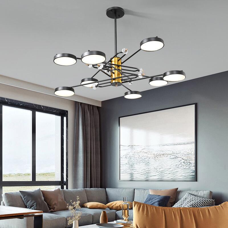 適用110V-220V客廳燈現代簡約北歐家用led燈具個性網紅餐廳燈輕奢藝術北歐吊燈