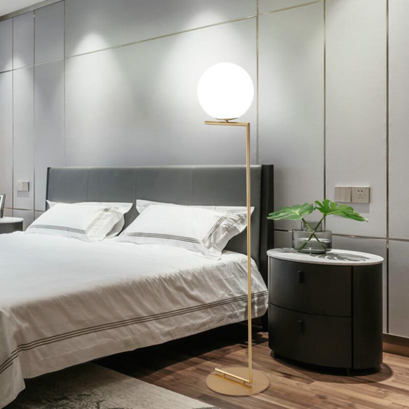 適用110V-220V北歐簡約后現代個性客廳裝飾落地燈設計師風臥室立式燈書房床頭燈