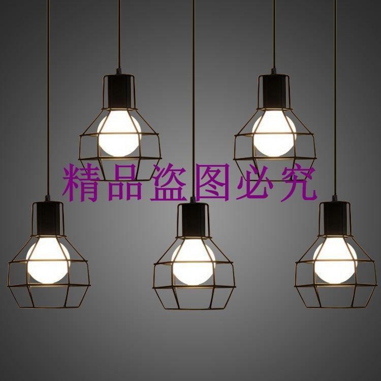 單頭鐵藝小吊燈 簡約現代奶茶店吧臺吊燈 服裝店藝術裝飾餐廳吊燈
