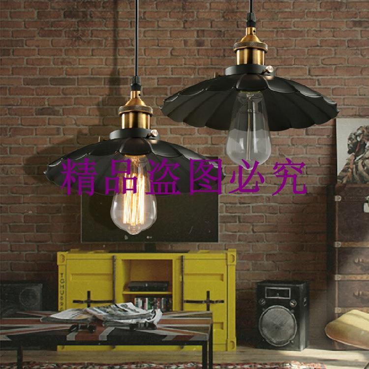 復古懷舊吧臺小吊燈 美式鄉村創意小雨傘燈 咖啡廳餐廳衣帽間吊燈
