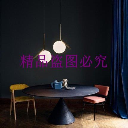 后現代簡約吊燈北歐創意餐廳臥室書房個性玻璃球圓球床頭單頭吊燈