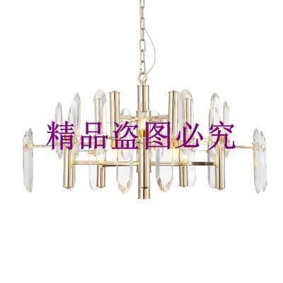 簡約美式金屬水晶燈后現代設計師客廳餐廳別墅樣板間創意個性吊燈