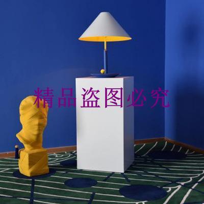 北歐簡約現代斗笠造型客廳臺燈藝術兒童房臥室床頭書房設計師臺燈
