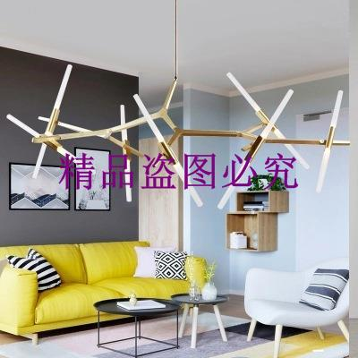 北歐后現代藝術工業風意大利設計師風格簡約創意個性人字樹杈吊燈