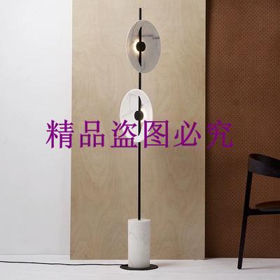 北歐高端可旋轉燈罩立式臺燈設計師別墅樣板房酒店創意現代落地燈
