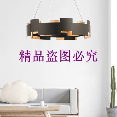2019后現代創意黑色客廳吊燈藝術床頭臥室書房樣板房設計師吊燈