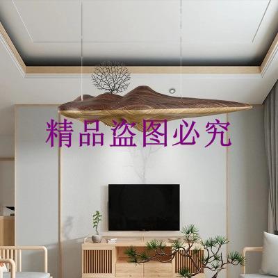 創意孤島吊燈 禪意新中式樹脂個性客廳餐廳吧臺燈具藝術書房吊燈