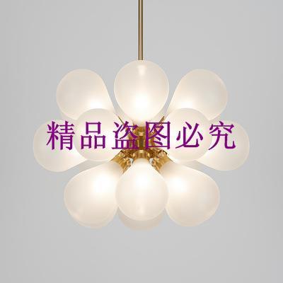設計樣板房后現代客廳臥室吊燈兒童房女兒公主房藍色粉紅色球吊燈