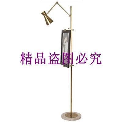 后現代奢華時尚簡約臥室LED落地燈 設計師樣板房新中式畫板立式燈