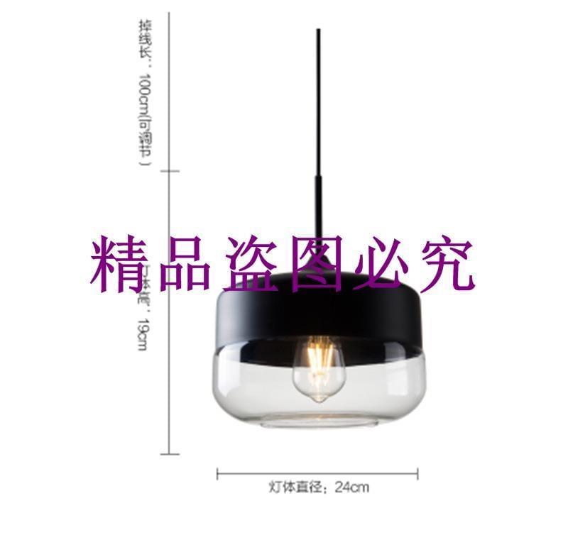 廠家直銷現代簡約創意個性客廳臥室單頭吧臺餐廳吊燈LED玻璃吊燈