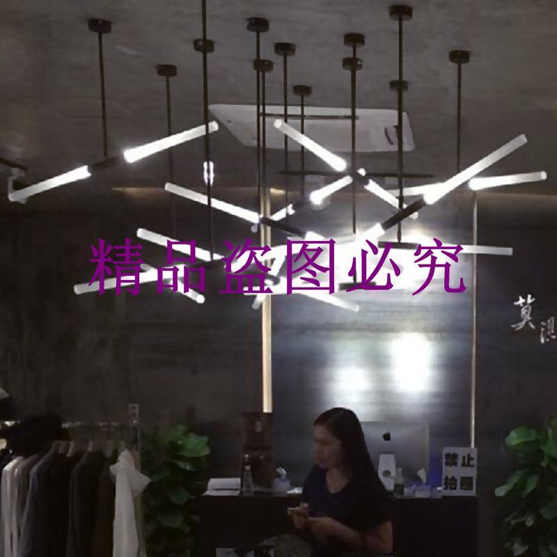 北歐現代創意個性藝術工業風酒店前臺辦公室吧臺led吊燈樹枝燈具