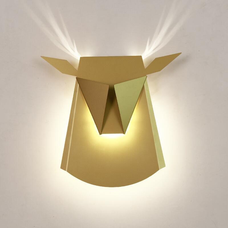 適用110V-220V北歐個性墻壁燈具書房臥室餐廳壁燈過道咖啡廳牛頭裝飾床頭壁燈
