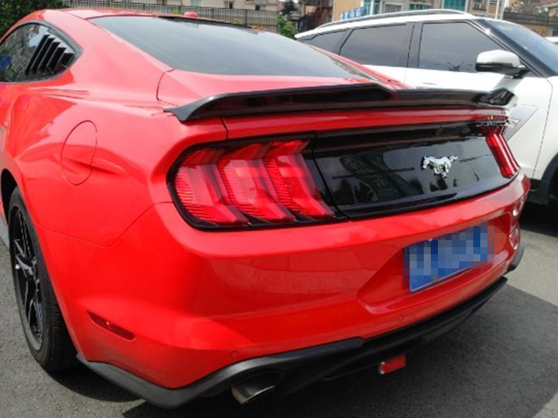 15-19福特野馬尾翼 Mustang壓尾翼中美規免打孔ABS材質 野馬改裝