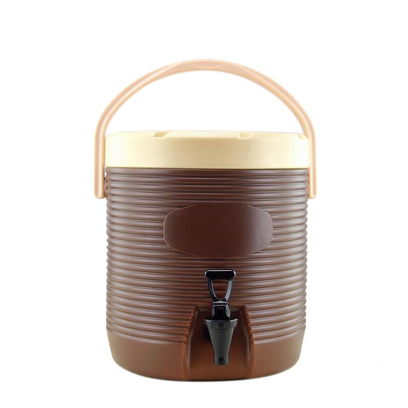 台灣熱賣商用大容量13L保溫桶提手帶龍頭奶茶桶冷熱果汁豆漿飲料桶開水桶