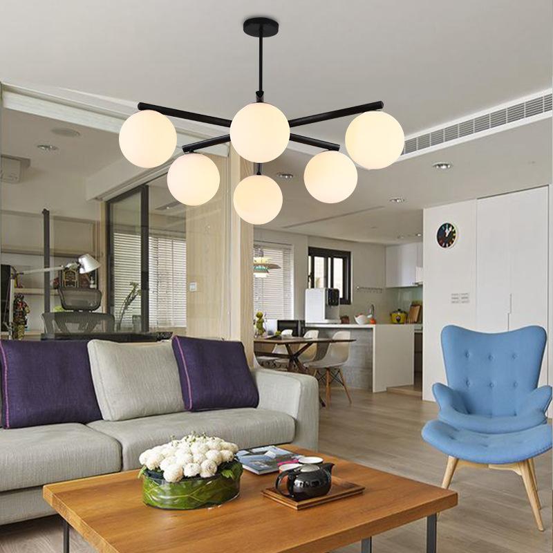 北歐魔豆吊燈現代簡約風格臥室燈具創意個性餐廳大氣家用客廳吊燈