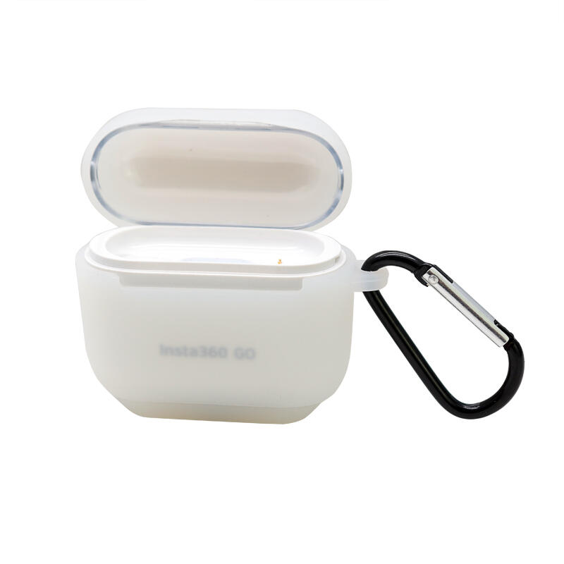 【優橙新品】適用于insta360 go充電盒保護套硅膠套收納包拇指防抖相機配件mxj