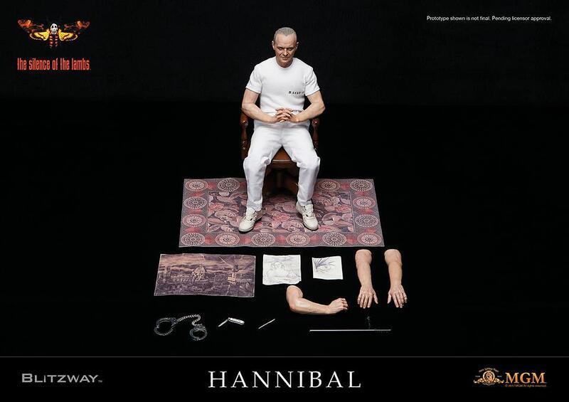~熊貓熊~全新 Blitzway 1/6 沈默的羔羊 1991 食人魔 漢尼拔 萊克特博士 Hanniba 白色囚服
