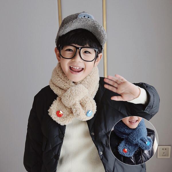2020冬裝新款男童舒適圍巾可愛百搭寶寶圍巾羊羔毛韓版圍脖保暖潮  量販優選線上賣場
