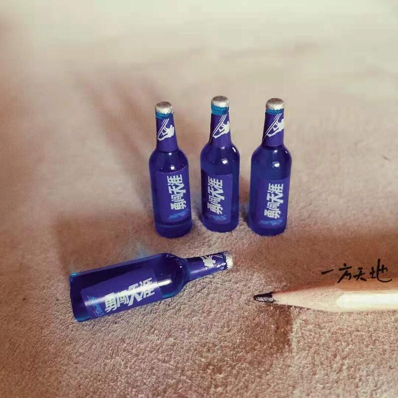 【金牌】場景模型仿真微縮迷你小啤酒瓶微景沙盤教具拍攝道具造景裝飾擺件
