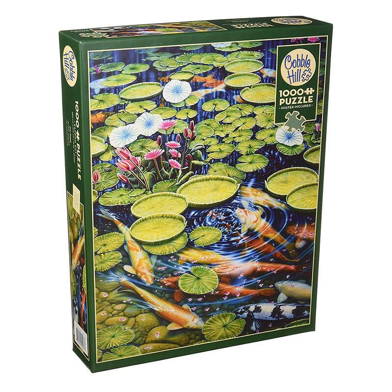 Cobble Hill 荷花鯉魚  1000片 加拿大進口拼圖80087 益智玩具-ZZ