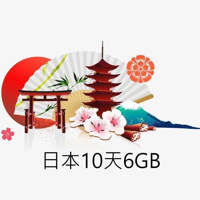 現貨特價!免設定 日本上網卡10天6GB吃到飽 4G高速網路 Softbank國際漫遊卡 網路SIM卡 行動網卡WIFI