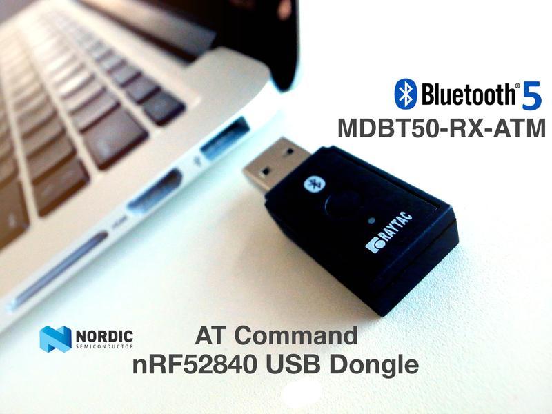 nRF52840 AT Command指令藍牙透傳Dongle Master/Central MDBT50Q-RXATM