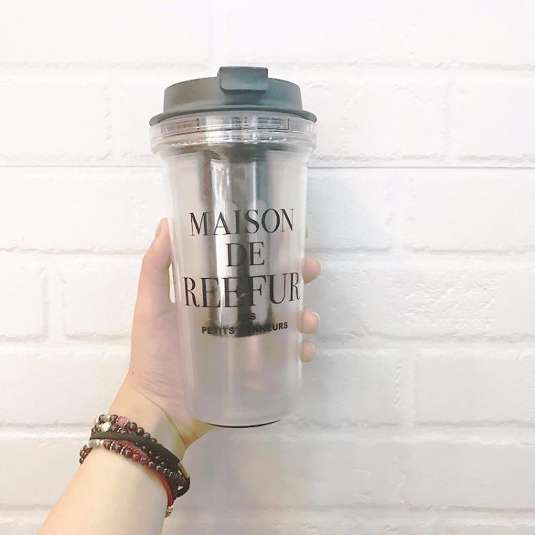 【可開發票】水杯原宿水杯塑膠杯子女學生韓版創意潮流磨砂可愛韓國女小清新梨花杯