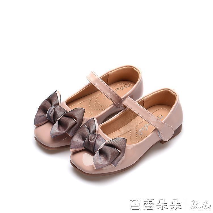公主鞋女童單鞋小皮鞋鞋子軟底豆豆鞋2019春秋新款淺口單鞋小女孩『』
