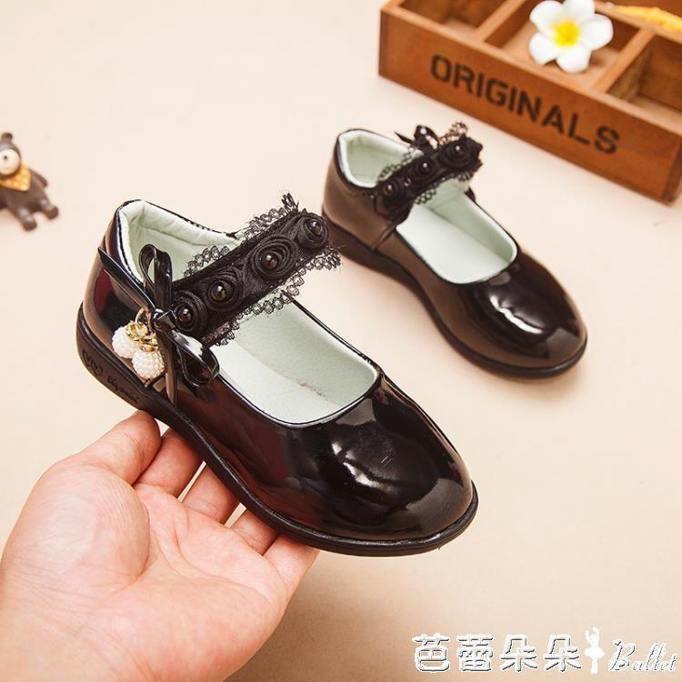 童鞋女童皮鞋2019新款春秋兒童單鞋女孩公主鞋小學生黑色演出鞋子『』