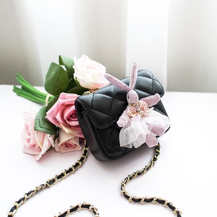 3色 兒童包包 斜挎包公主兔子日韓時尚女童小香風包鏈條包潮-開心購