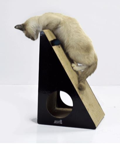 立式貓抓板瓦楞紙磨爪器貓抓球玩具貓爪板窩房子特大號-開心購
