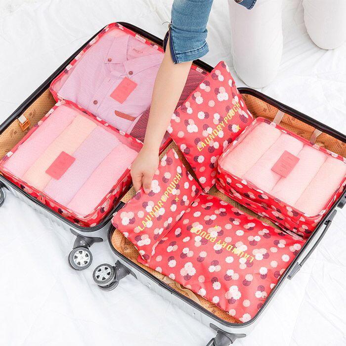 旅行韓版收納袋套裝旅游必備行李箱整理包 免運