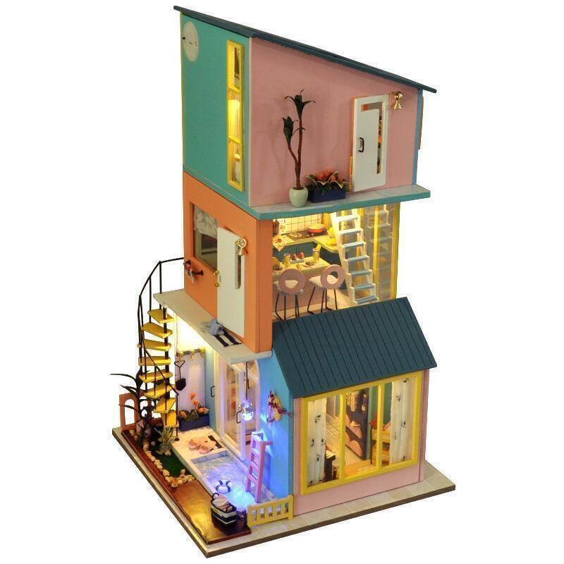 限時下殺~85折優惠 巧之匠diy小屋手工制作小房子拼裝模型小別墅兒童玩具生日禮物女
