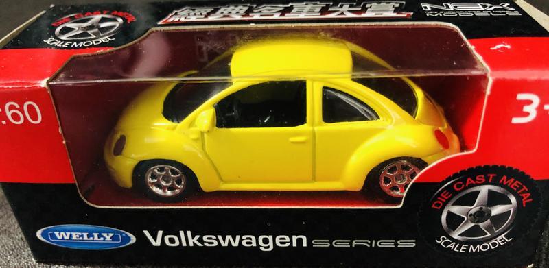 福斯_Volkswagen_BEETLE_經典金龜車系列_合金1:60玩具模型車