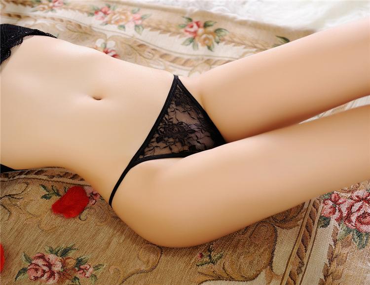 實惠 超棒的 2019新品日系蕾絲丁字褲女士蕾絲面料透明內褲女性感
