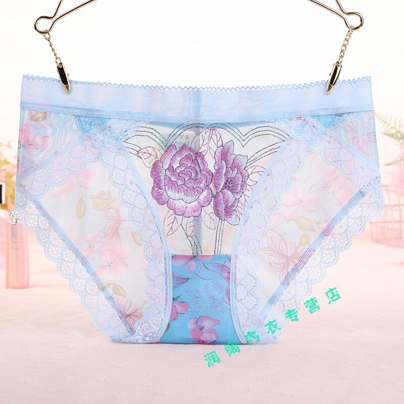 實惠 超棒的 性感內褲女士低腰無痕蕾絲透明丁子內褲新款性感內褲