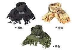 【阿爾斯工坊】高品質!野戰專用阿拉伯方巾、圍巾(黑、沙、綠可選)-DT00101