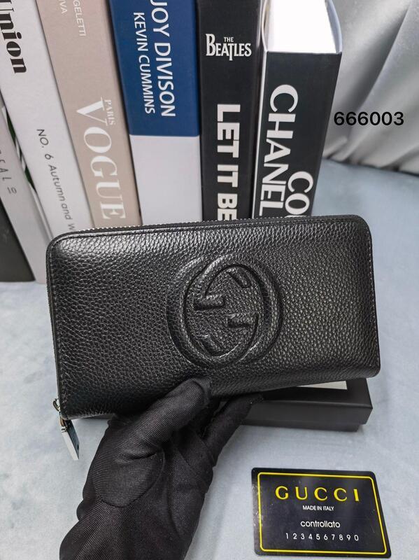 誠信好康熱賣款Gucci古奇經典男士長夾 男用錢夾 大鈔夾 手拿包男真皮手包商務休閒夾包 錢包拉鏈皮夾