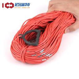 測繩30/50/70/100米鋼絲尼龍耐高溫工程樁基井深水位尺百米測量繩