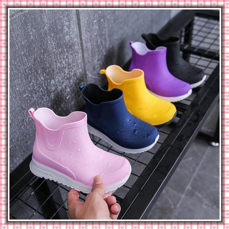現貨 日系 兒童雨鞋 雨靴 防滑雨靴 男童 女童 雨具 防水鞋套 雨鞋 防水相關用具 膠鞋 外貿童裝 高顔值