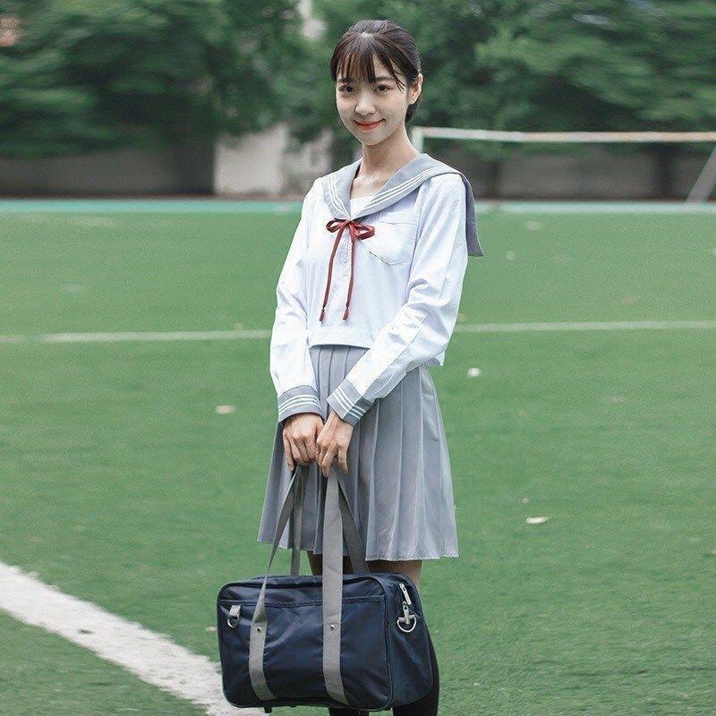 日系軟妹學院風高端JK制服水手服關西襟長袖學生裝套裝女校服班服