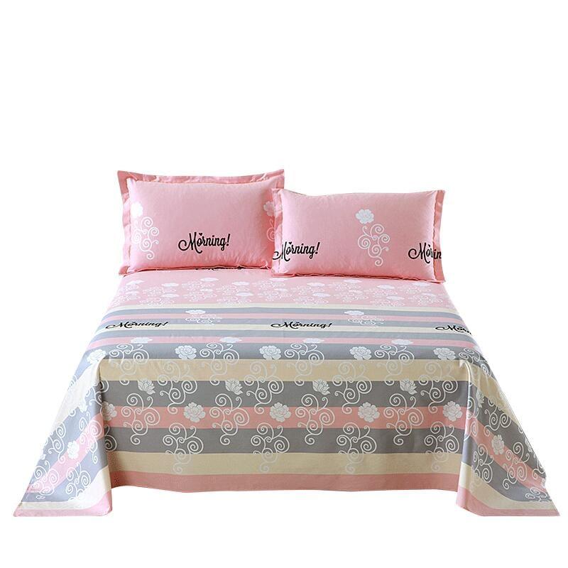全棉加厚100%純棉床單單件雙人男女1.8m1.5兒童1.2米網紅棉布被單