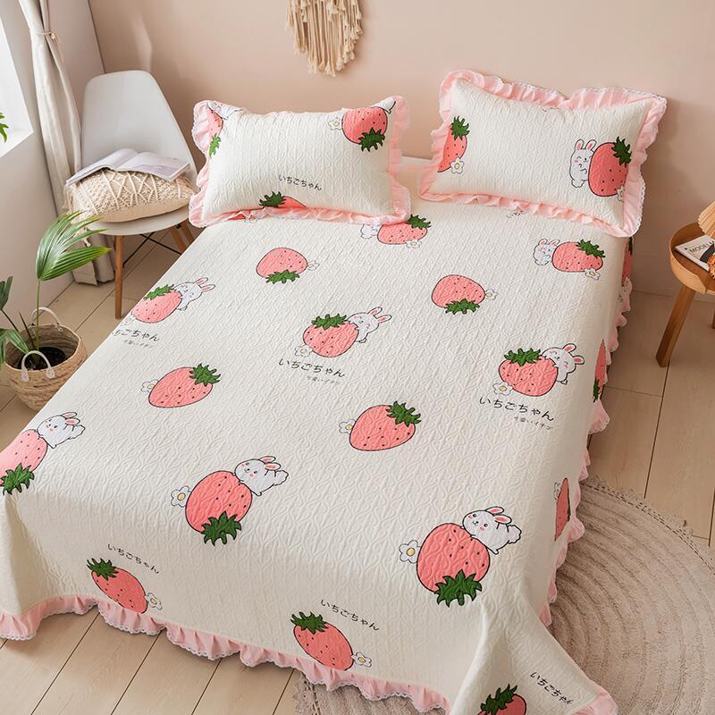 全棉床單單件防滑加厚純棉床蓋1.5米1.8m床榻榻米被單炕單三件套
